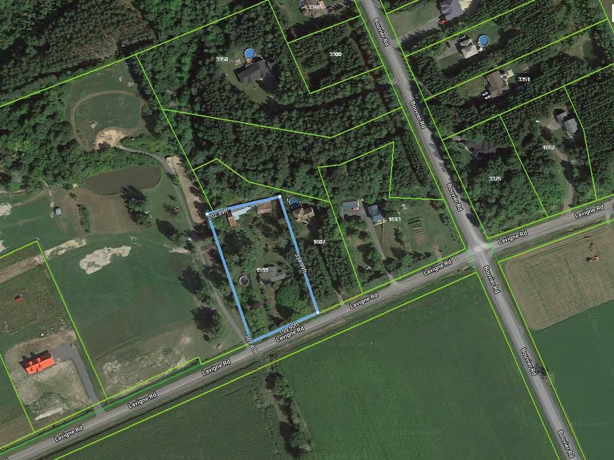 1599 Lavigne Rd in Hammond - 1.63 peaceful acres with a double mobile home structure and outbuildings - for sale