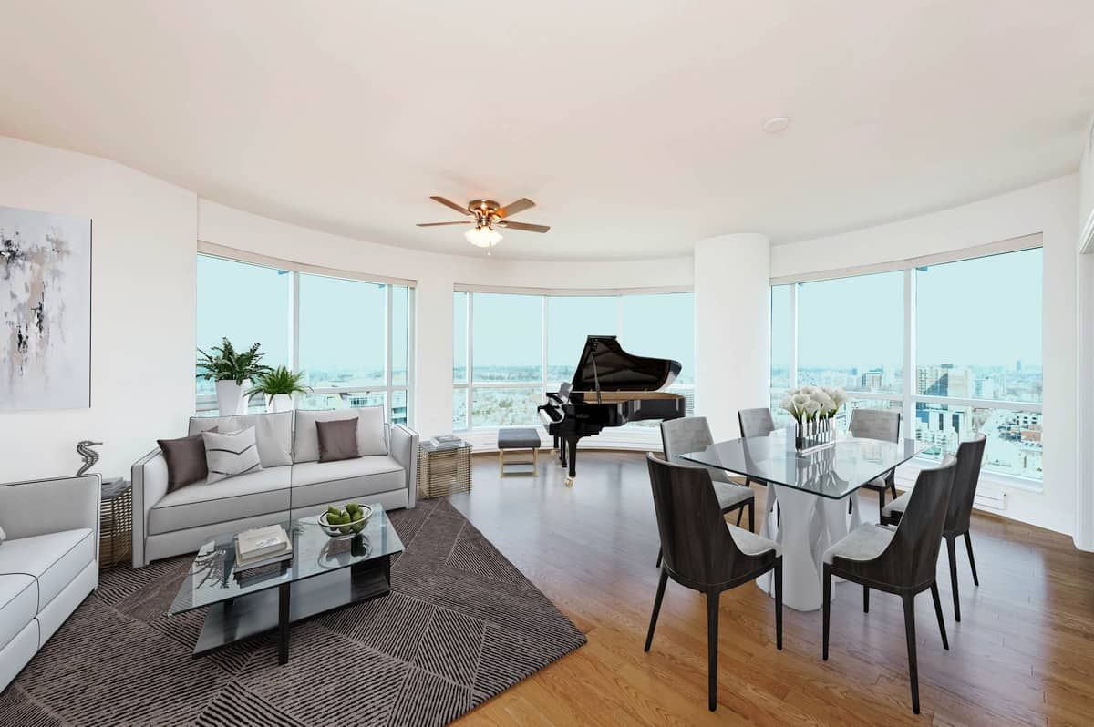 Enjoy Penthouse Vistas from this stunning 1454 Square foot 2 Plus Den Condo - 2603-234 Rideau Street Ottawa - For Sale $699,900