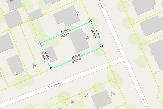612 Tweedsmuir - Corner development lot for sale in Westboro - 50x100 zoned R4